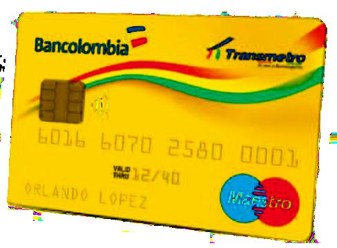 TU TARJETA DEBITO BANCOLOMBIA ES TU TIQUETE EN TRANSMETRO